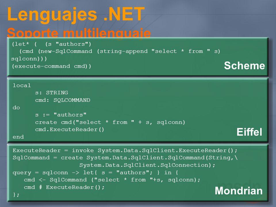 Lenguajes.NET Soporte multilenguaje (let* ( (s