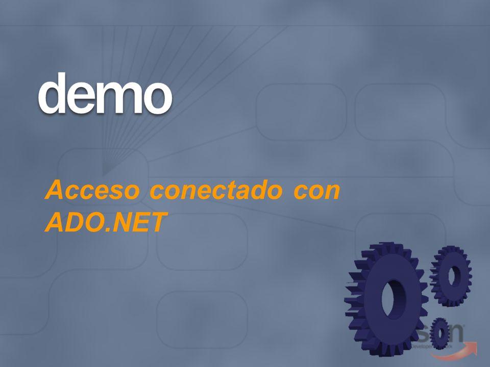 Acceso conectado con ADO.NET