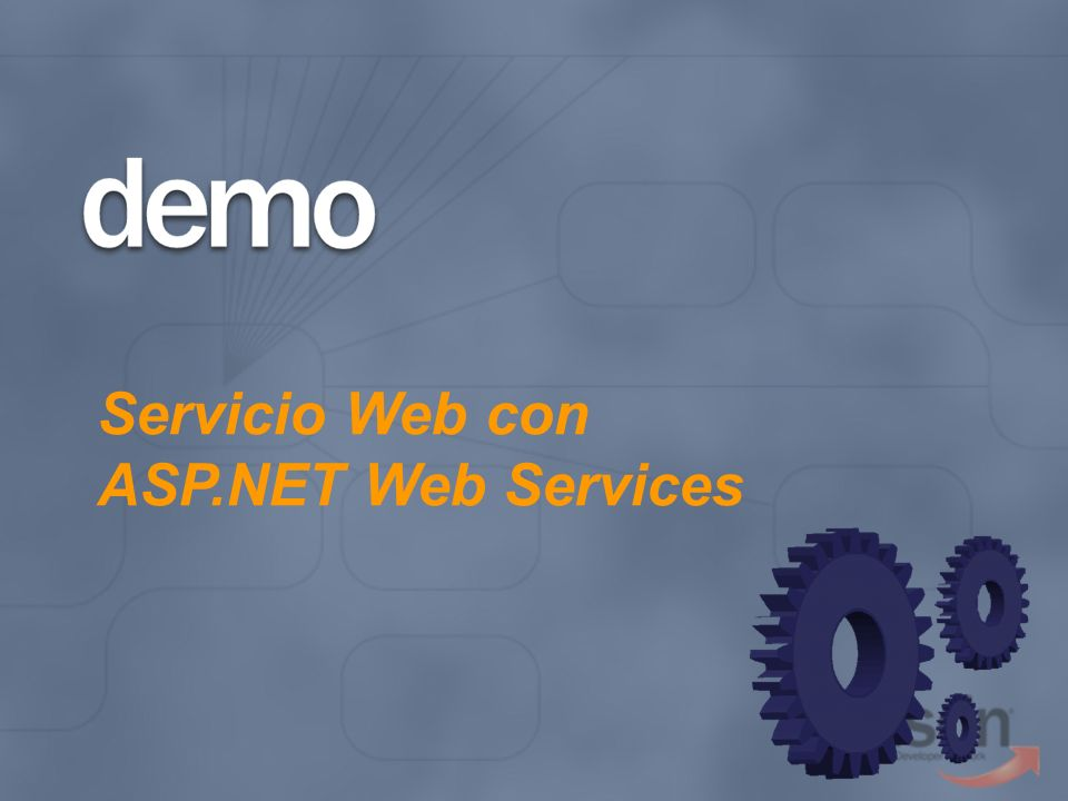Servicio Web con ASP.NET Web Services