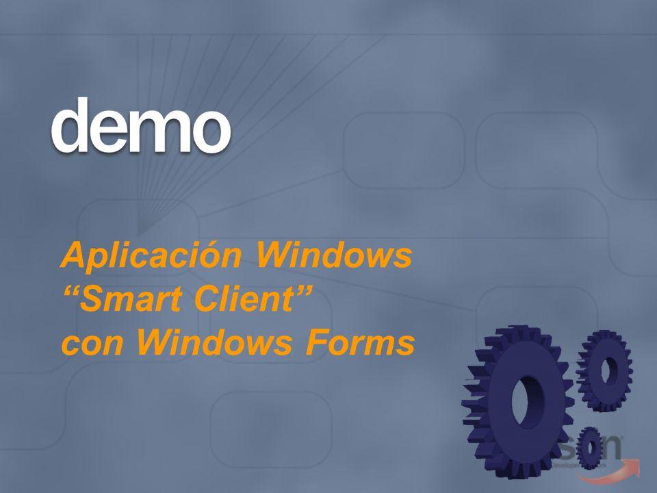Aplicación Windows Smart Client con Windows Forms