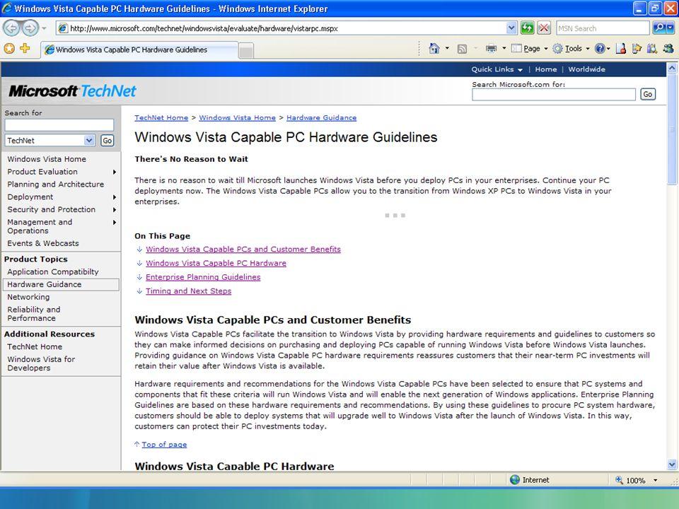 Más oportunidad para proyectos de migración 48% de PC en Empresas usan Windows XP en Argentina El otro 52% están principalmente en Windows 2000 y 98 (aprox 1.2 M PCs) Vista tendrá 2 versiones para Empresas: –Vista Business –Vista Enterprise: sólo por Software Assurance Multilenguaje Virtual PC Express Servicios para Unix Bit Locker: seguridad por hardware