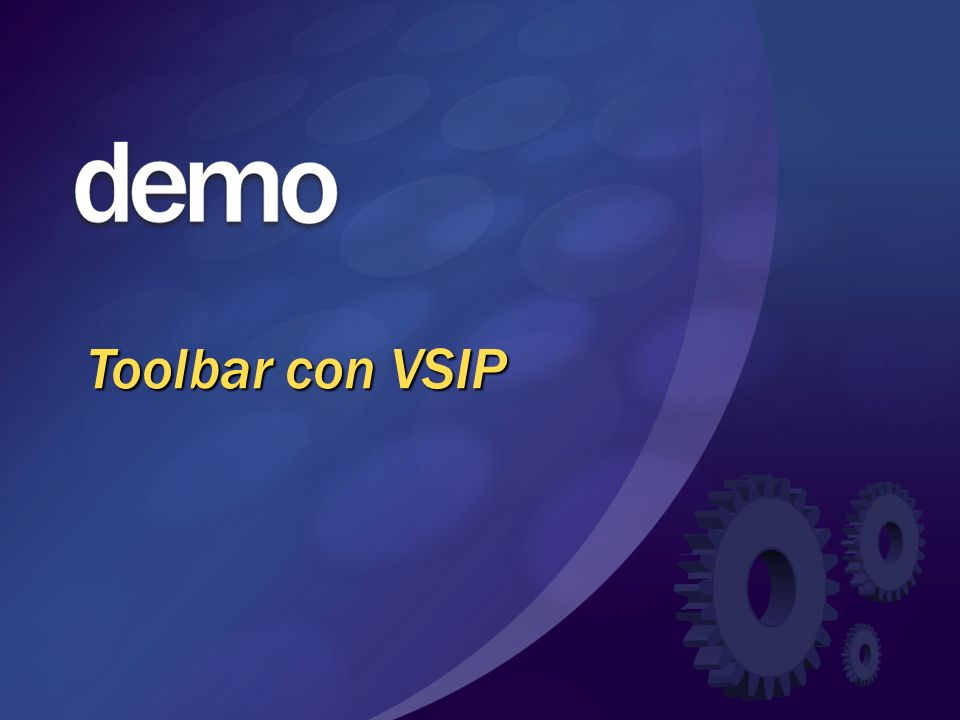 Toolbar con VSIP