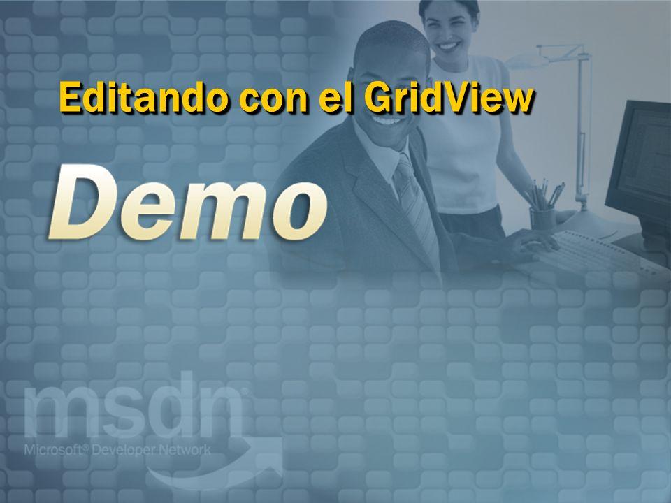 Editando con el GridView