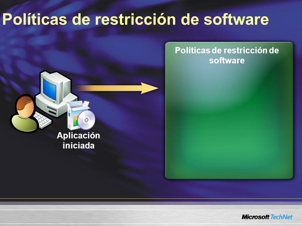 Políticas de restricción de software Aplicación iniciada
