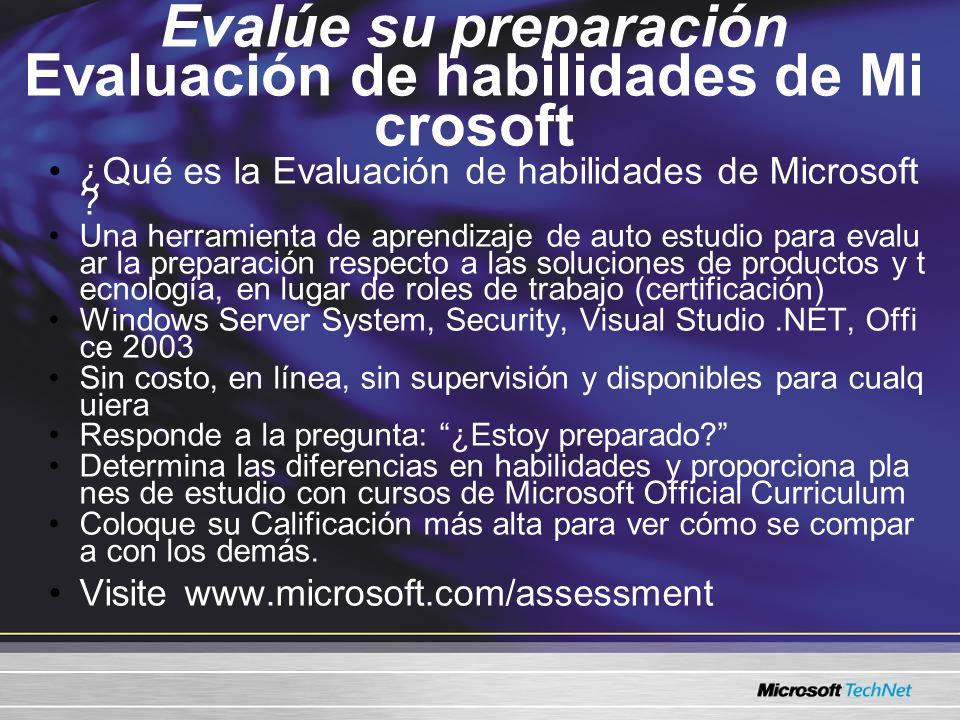 Evalúe su preparación Evaluación de habilidades de Mi crosoft ¿Qué es la Evaluación de habilidades de Microsoft ? Una herramienta de aprendizaje de au