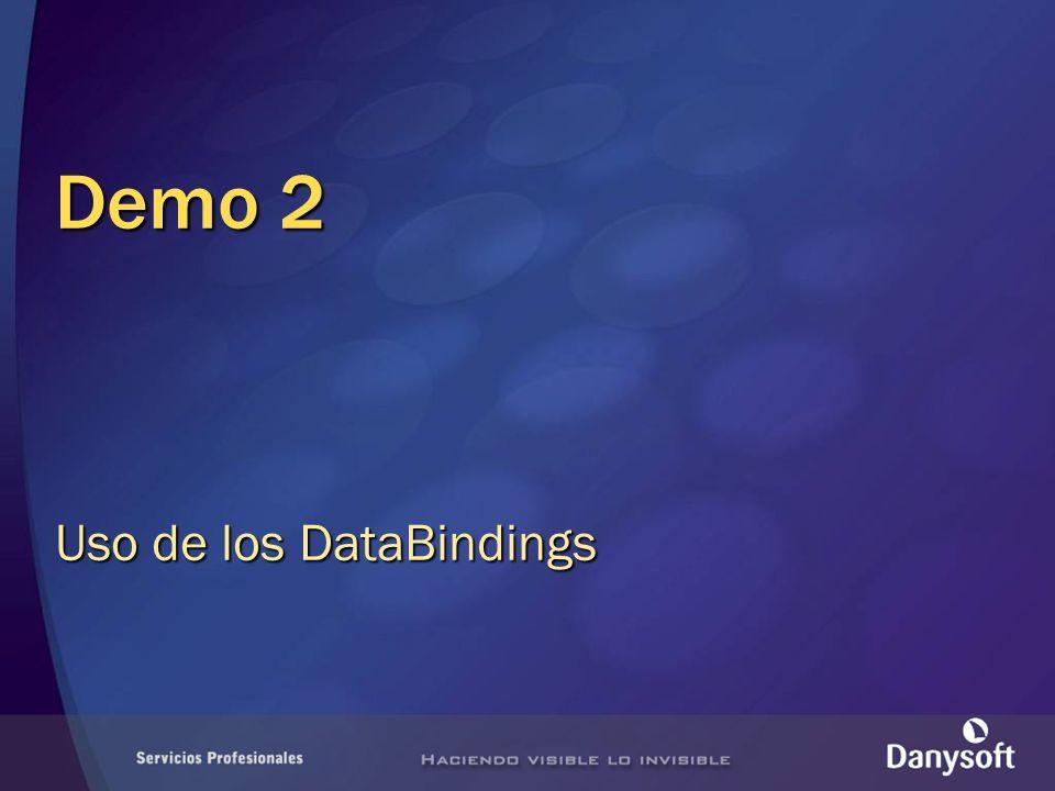Demo 2 Uso de los DataBindings