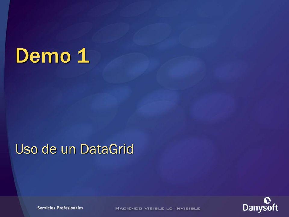 Demo 1 Uso de un DataGrid