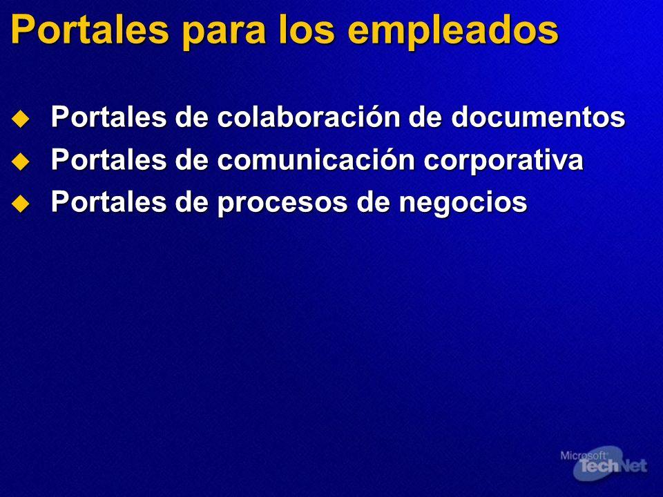 Portales para los empleados Portales de colaboración de documentos Portales de colaboración de documentos Portales de comunicación corporativa Portale