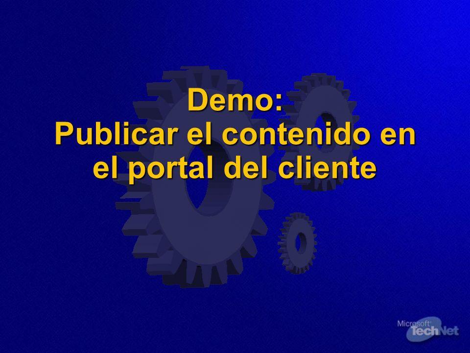 Demo: Publicar el contenido en el portal del cliente