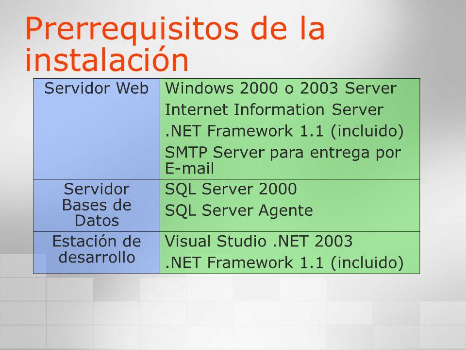 SQL Server / SQL Server Agente Componentes Compartidos Web Service (IIS / ASP.NET) http:// /reportserver Servicio Win32 Reporting Services: Componentes Acceso URL Punto SOAP reportservice.asmx Extracción datos WMI Entrega Seguridad Administrador http:// /reports Presentación Navegador Diseñador de reportes Utilidades de cliente