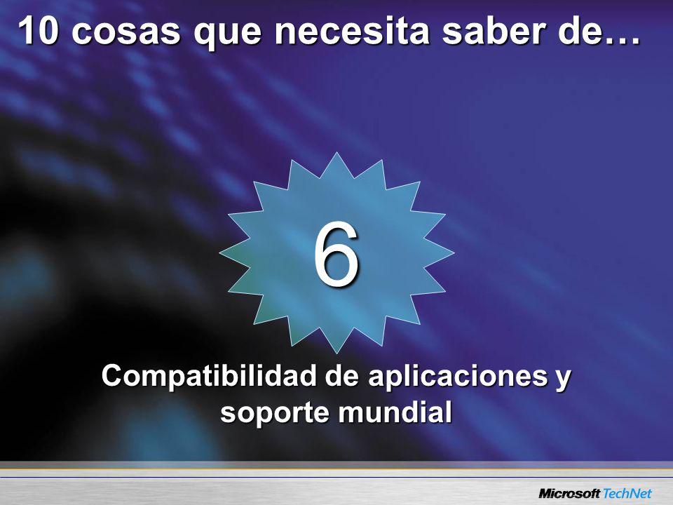 6 Compatibilidad de aplicaciones y soporte mundial 10 cosas que necesita saber de…