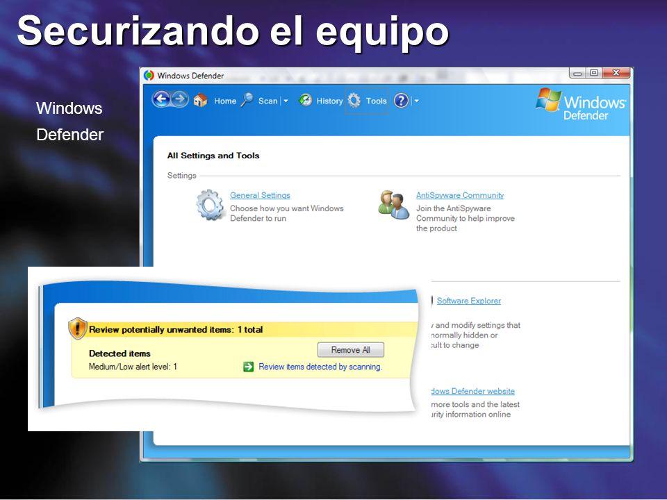 Securizando el equipo Windows Defender