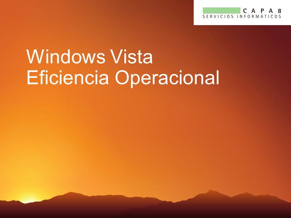 Aspectos Clave Windows Vista es la versión más administrable y soportable existente Windows Vista simplifica y expande las opciones de configuración y mejora las capacidades de monitoreo remoto Las capacidades de soportabilidad ayudan a reducir el número de llamadas a help desk y mejora la solución de problemas