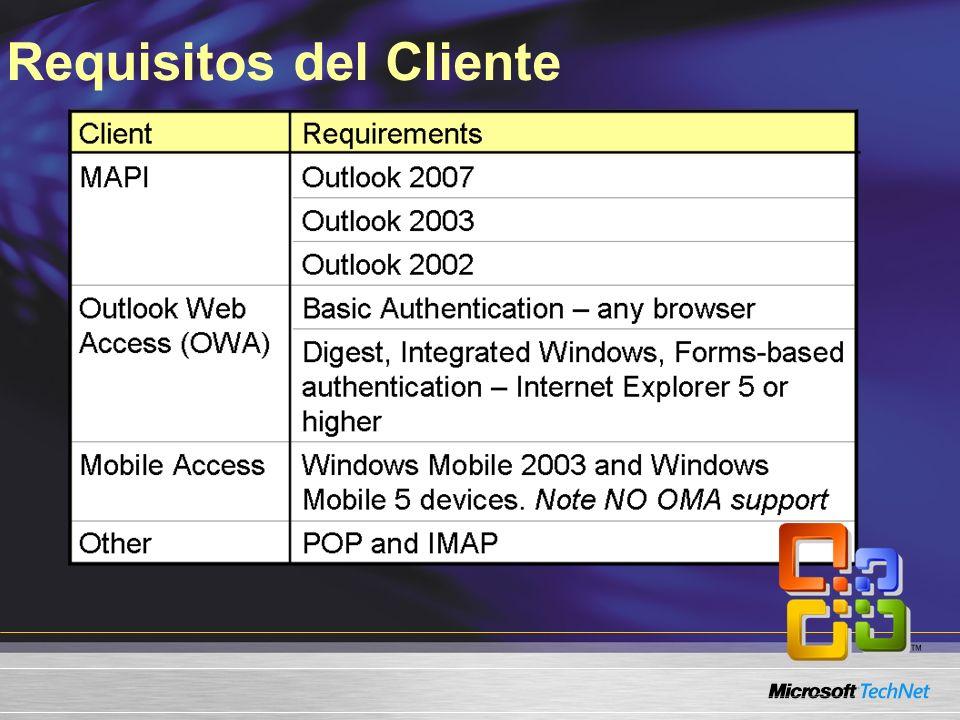 Requisitos del Cliente
