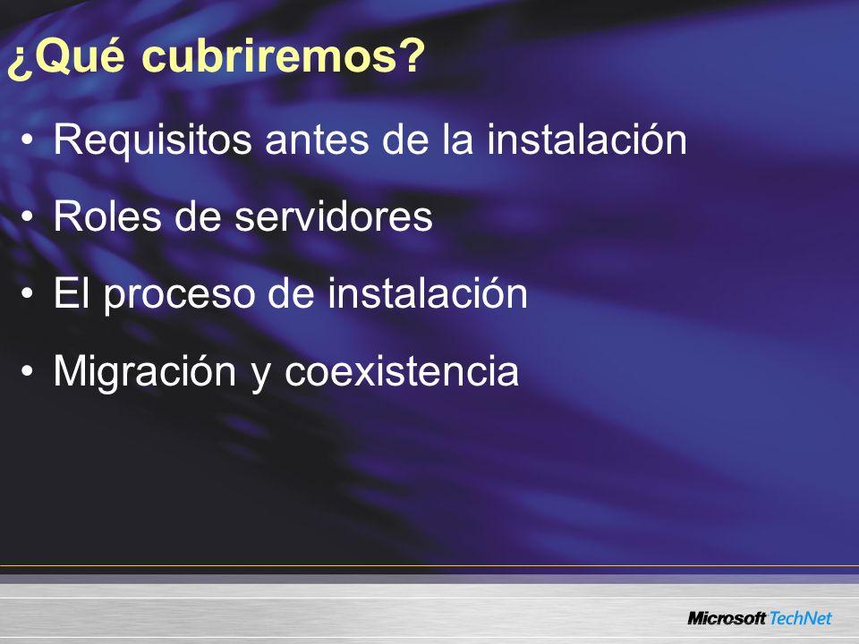 Nivel 200 Experiencia requerida (preferible) Administración de TI en Microsoft Exchange Server 2003, Exchange 2000 Server o Exchange Server 5.5