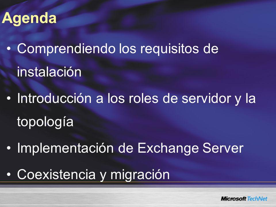 Enfoques de Exchange 2007 Implementación mediante roles Mejores herramientas de administración PowerShell Control