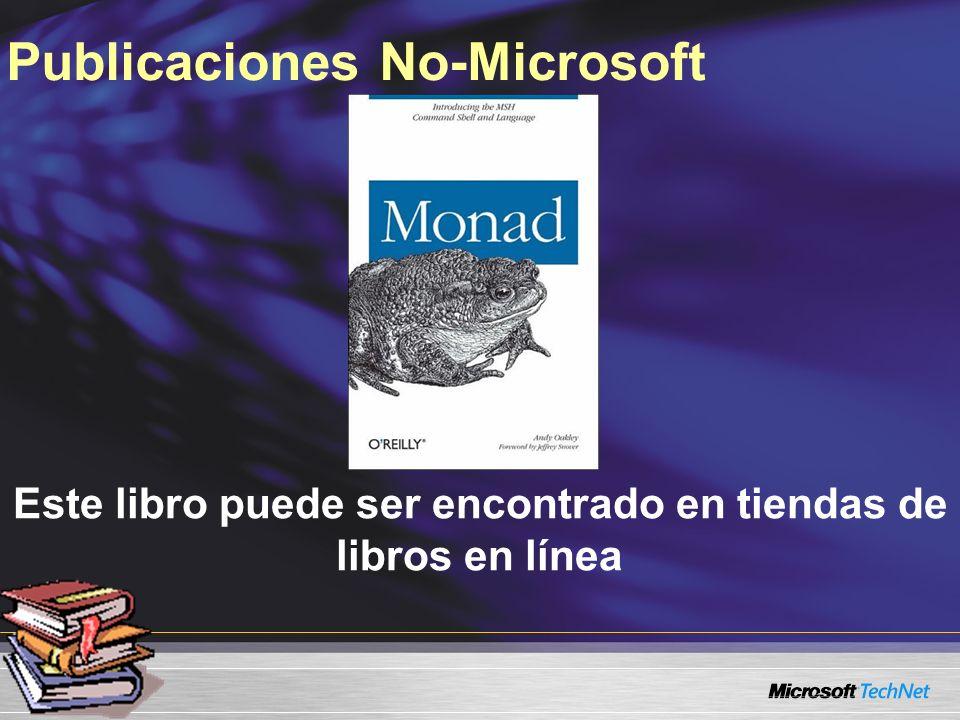 Este libro puede ser encontrado en tiendas de libros en línea Publicaciones No-Microsoft