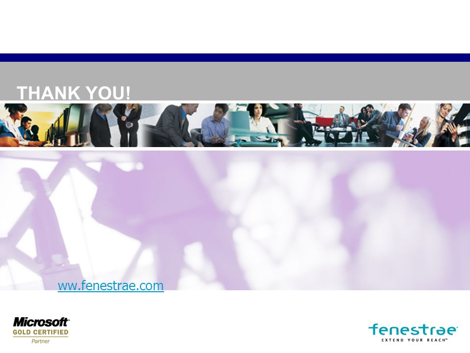 THANK YOU! ww.fenestrae.com
