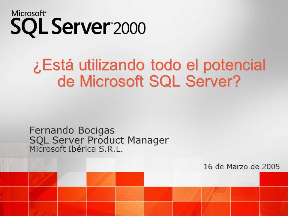 ¿Está utilizando todo el potencial de Microsoft SQL Server.