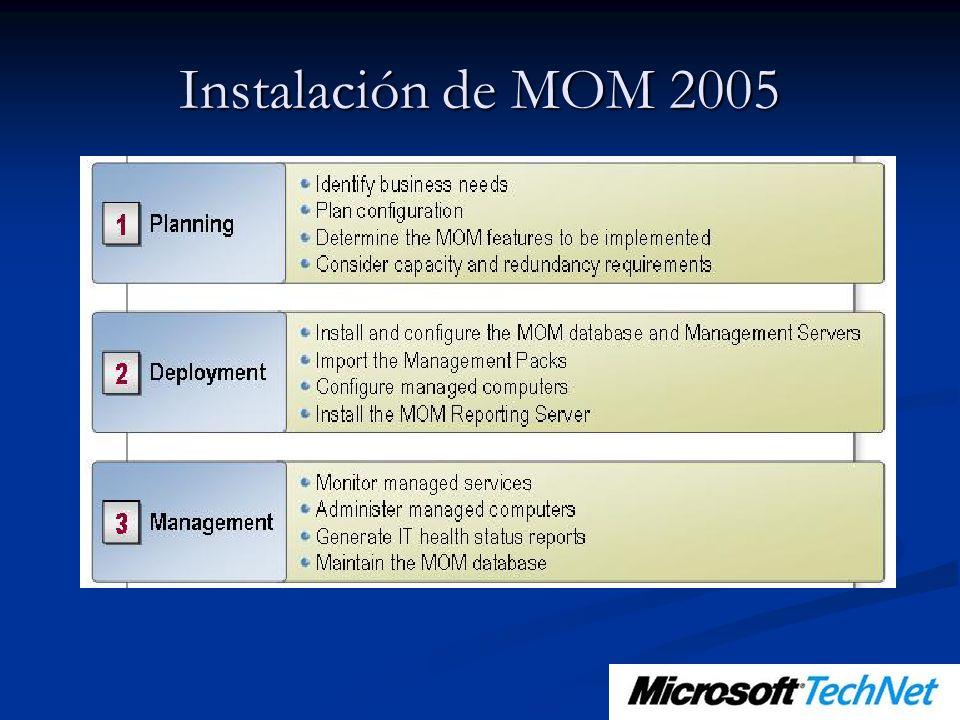 Instalación de MOM 2005