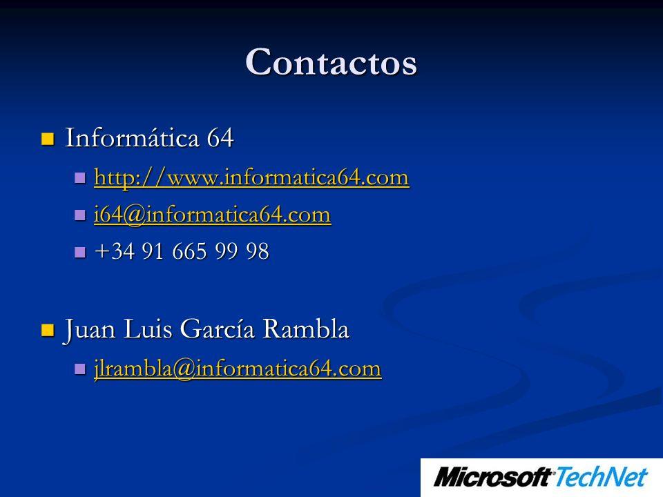 Contactos Informática 64 Informática 64 http://www.informatica64.com http://www.informatica64.com http://www.informatica64.com i64@informatica64.com i