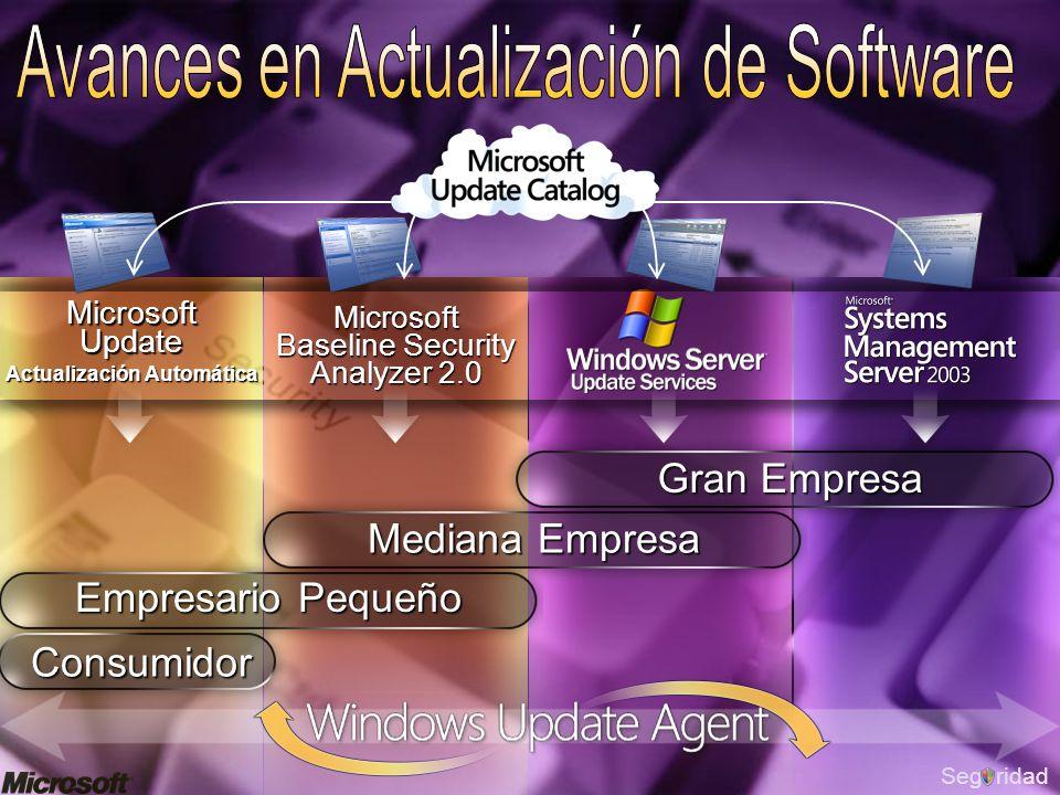 SegridadMicrosoft Baseline Security Analyzer 2.0 Microsoft Update Actualización Automática Consumidor Empresario Pequeño Mediana Empresa Gran Empresa