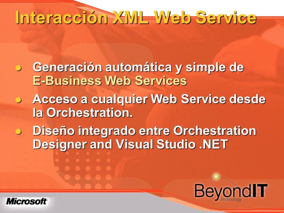 Interacción XML Web Service Generación automática y simple de E-Business Web Services Generación automática y simple de E-Business Web Services Acceso