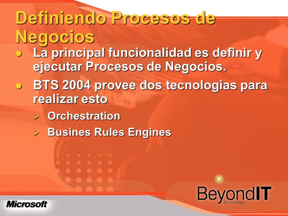 La principal funcionalidad es definir y ejecutar Procesos de Negocios. La principal funcionalidad es definir y ejecutar Procesos de Negocios. BTS 2004