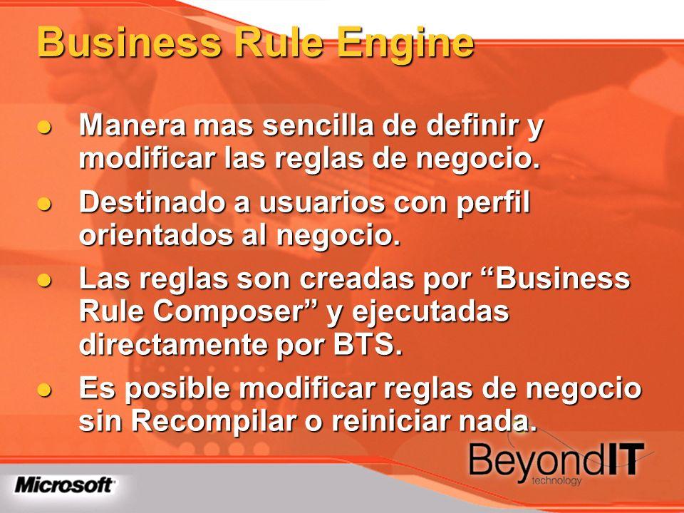 Manera mas sencilla de definir y modificar las reglas de negocio. Manera mas sencilla de definir y modificar las reglas de negocio. Destinado a usuari