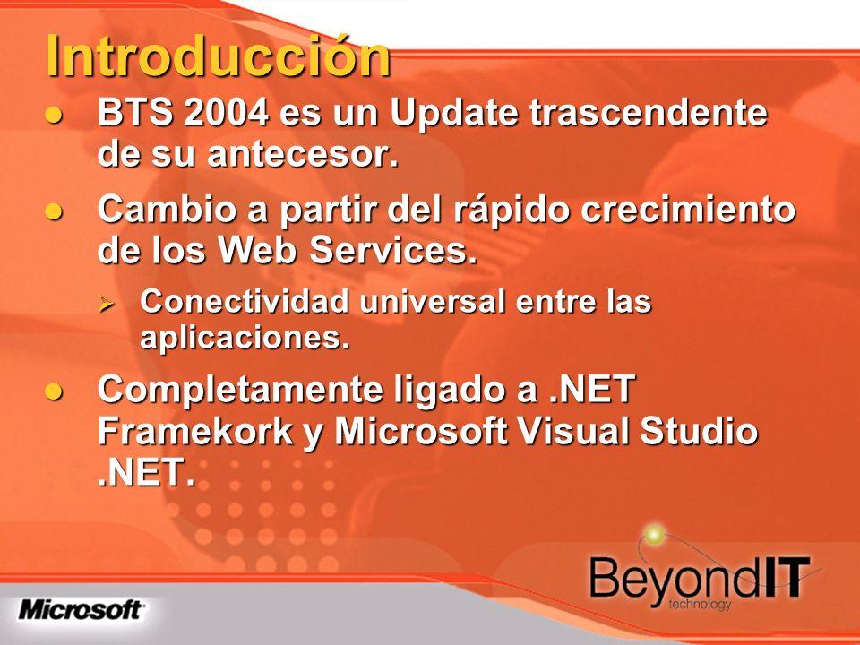 Introducción BTS 2004 es un Update trascendente de su antecesor. BTS 2004 es un Update trascendente de su antecesor. Cambio a partir del rápido crecim