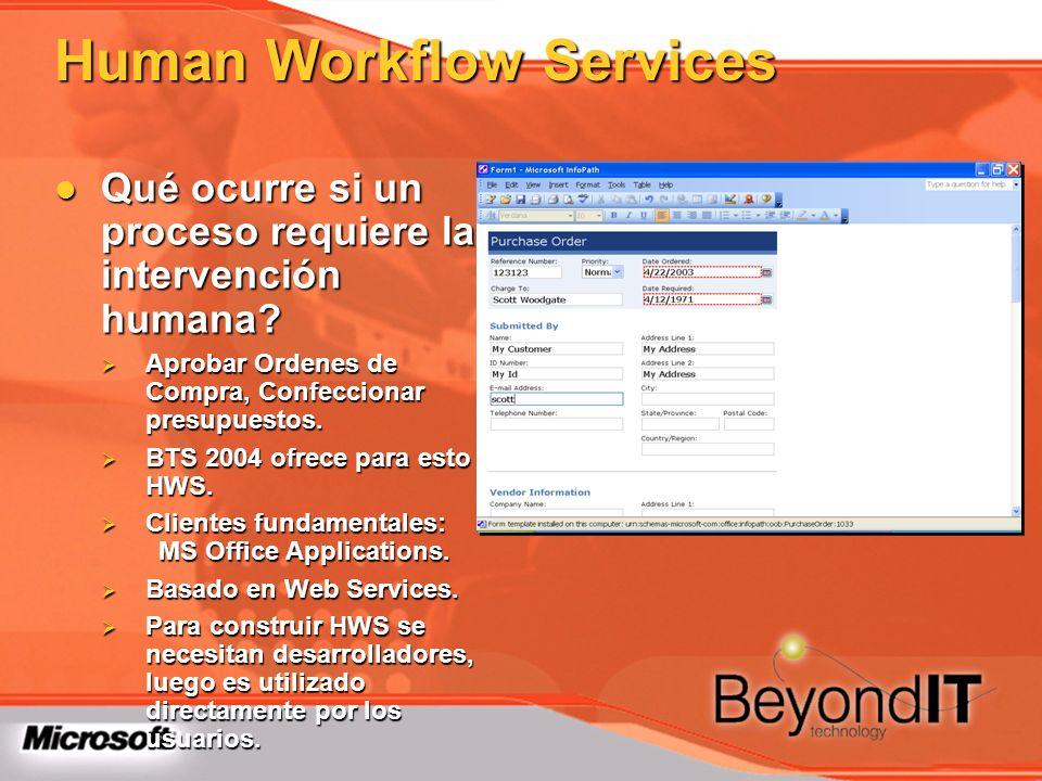 Human Workflow Services Qué ocurre si un proceso requiere la intervención humana? Qué ocurre si un proceso requiere la intervención humana? Aprobar Or