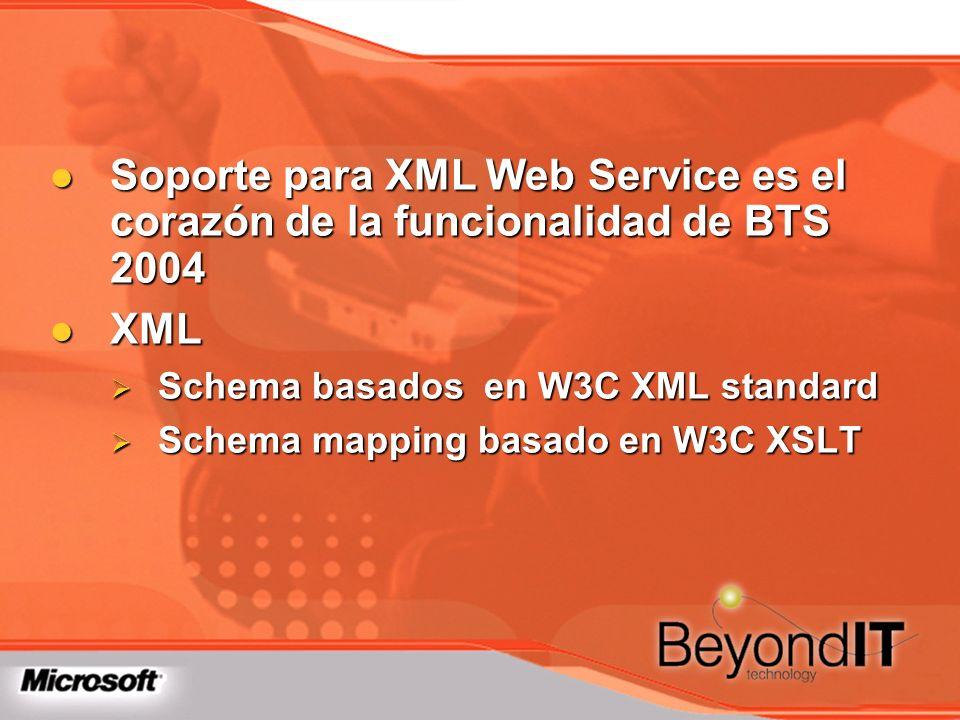 Soporte para XML Web Service es el corazón de la funcionalidad de BTS 2004 Soporte para XML Web Service es el corazón de la funcionalidad de BTS 2004