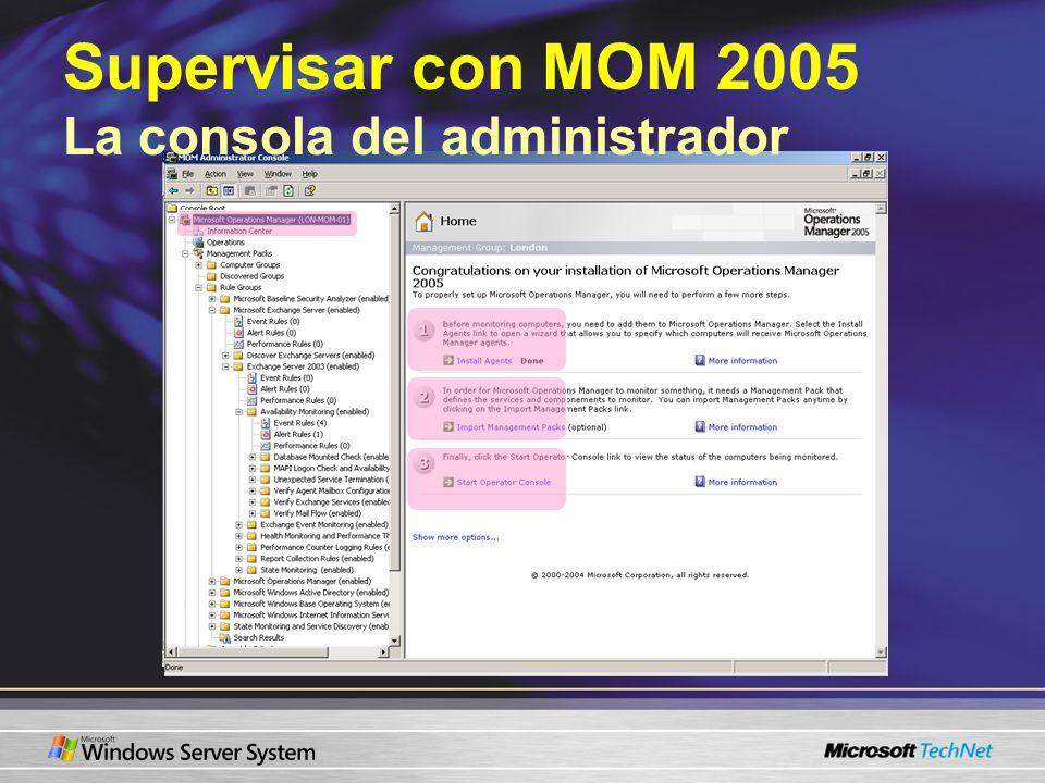 Supervisar con MOM 2005 La consola del administrador