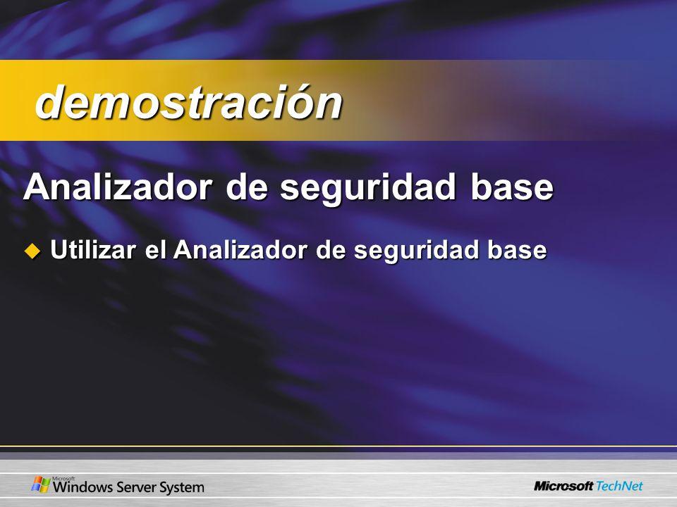 Analizador de seguridad base Utilizar el Analizador de seguridad base Utilizar el Analizador de seguridad base demostración demostración