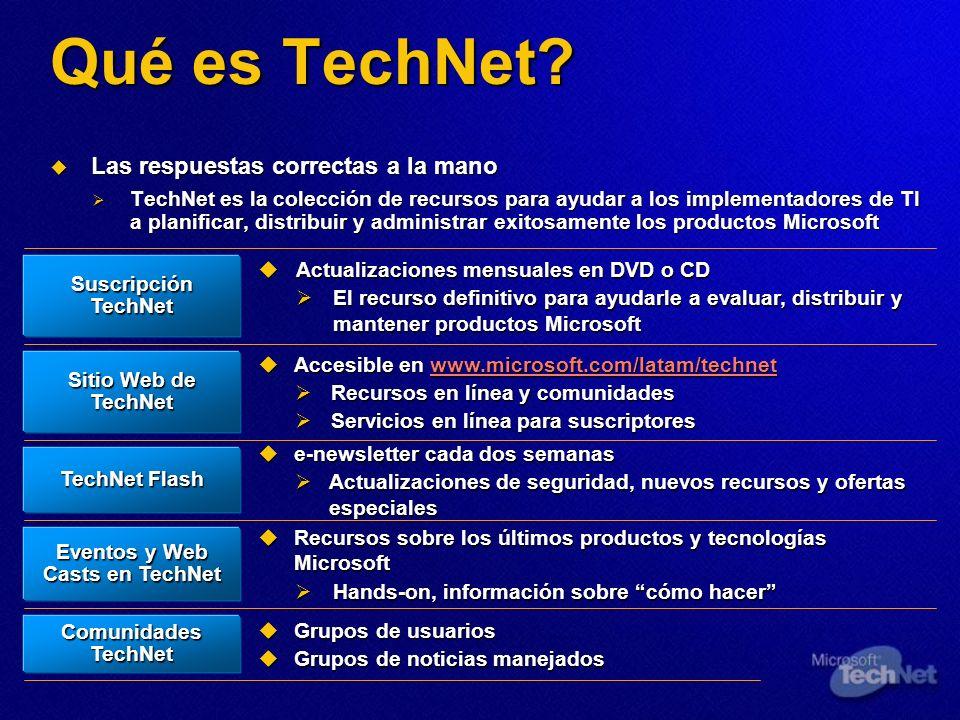 Qué es TechNet? Las respuestas correctas a la mano Las respuestas correctas a la mano TechNet es la colección de recursos para ayudar a los implementa