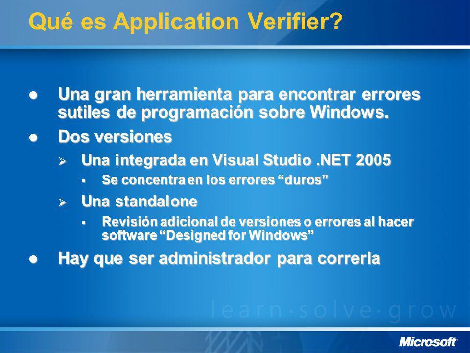 Qué es Application Verifier? Una gran herramienta para encontrar errores sutiles de programación sobre Windows. Una gran herramienta para encontrar er