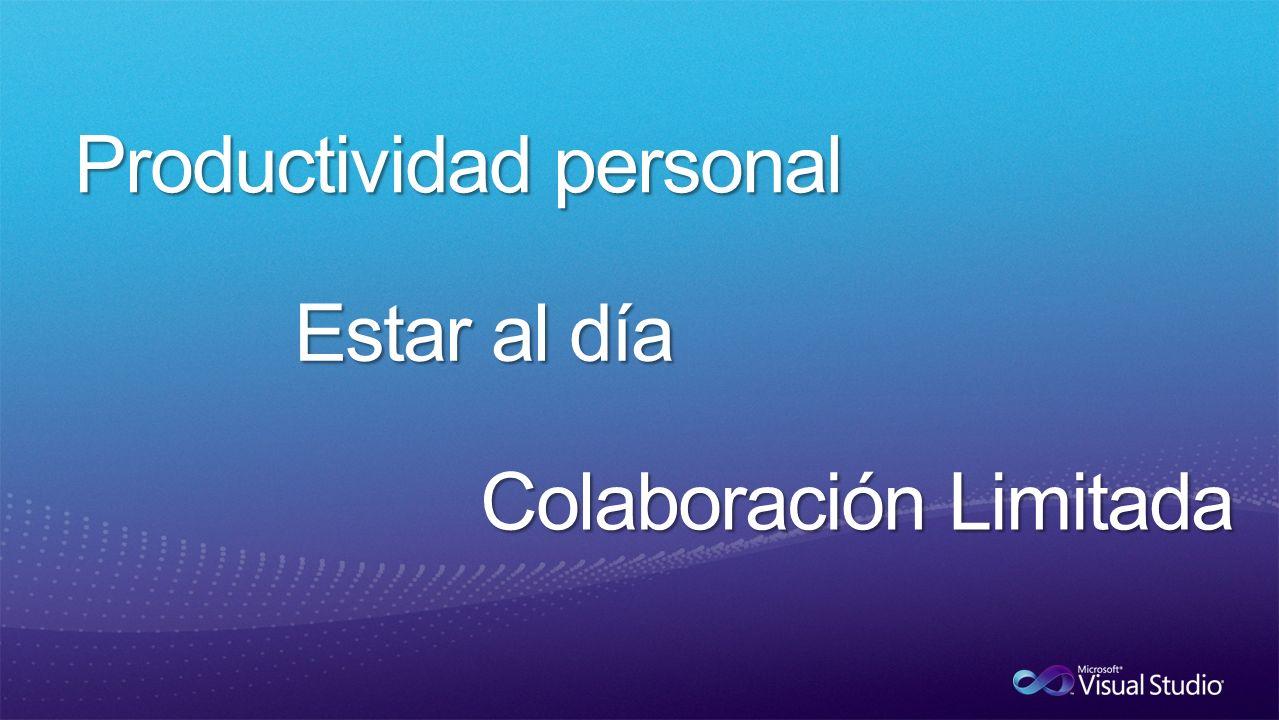 Productividad personal Estar al día Colaboración Limitada