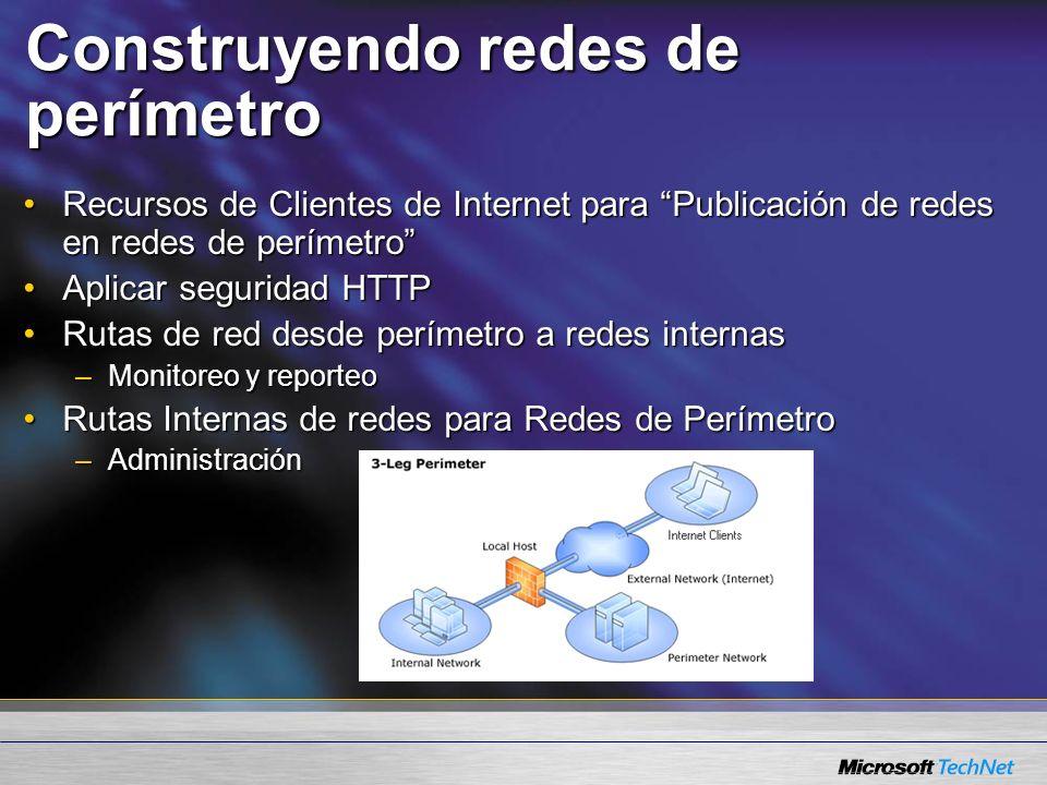 Construyendo redes de perímetro Recursos de Clientes de Internet para Publicación de redes en redes de perímetroRecursos de Clientes de Internet para