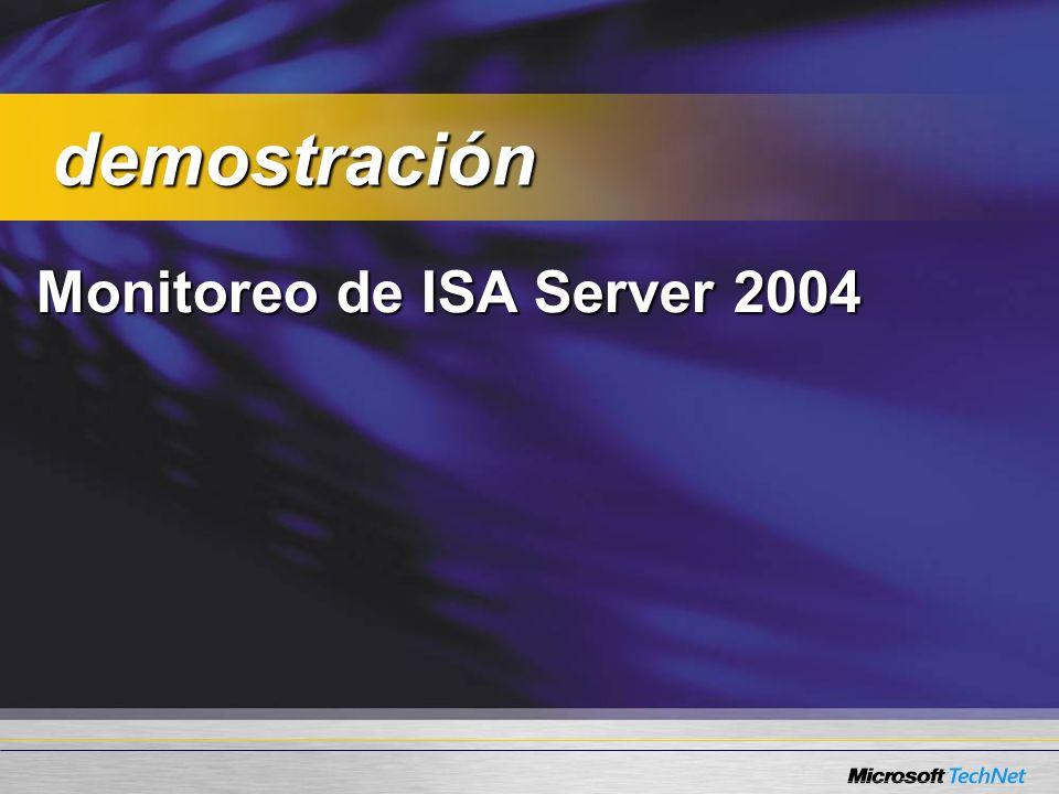 Monitoreo de ISA Server 2004 demostración demostración