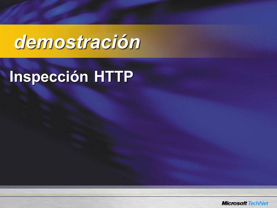 Inspección HTTP demostración demostración
