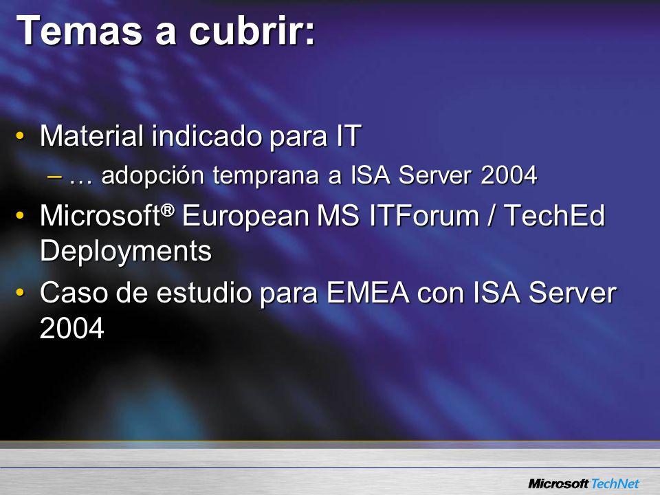 Contacto : Vía Web : http://www.microsoft.com/latam/isaserver/ Puedes contactarnos en el : 01800-5272000