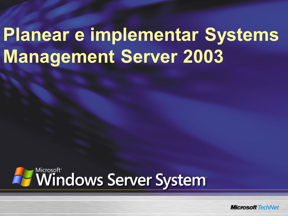 Planear e implementar Systems Management Server 2003