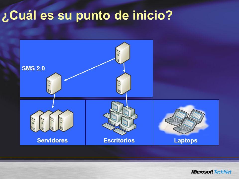 SMS 2.0 LaptopsEscritoriosServidores ¿Cuál es su punto de inicio?