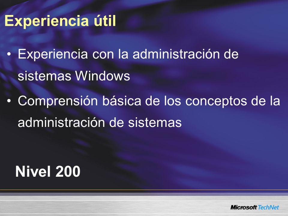 SMS 2.0SMS 2003 RTM LaptopsEscritoriosServidores Sitio de seguridad, DP Punto de distribución No hay sitios de sistema Niveles de implementación SMS