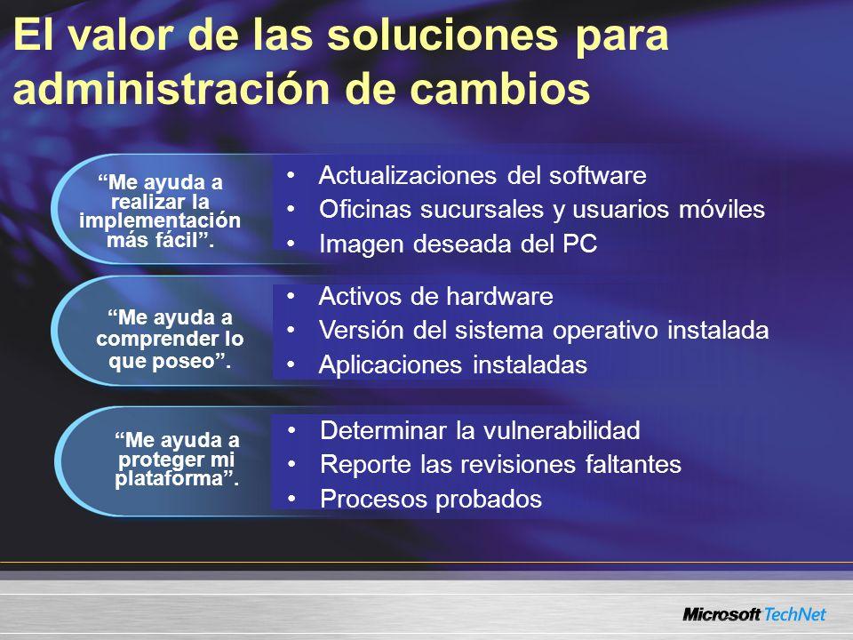 SMS 2.0SMS 2003 RTM LaptopsEscritoriosServidores Sitio de seguridad, Proxy MP, DP, SQL Sitio de seguridad, DP Punto de distribución No hay sitios de sistema Sitio de seguridad, Proxy MP, DP Niveles de implementación SMS