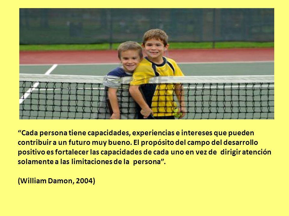 Cada persona tiene capacidades, experiencias e intereses que pueden contribuir a un futuro muy bueno.
