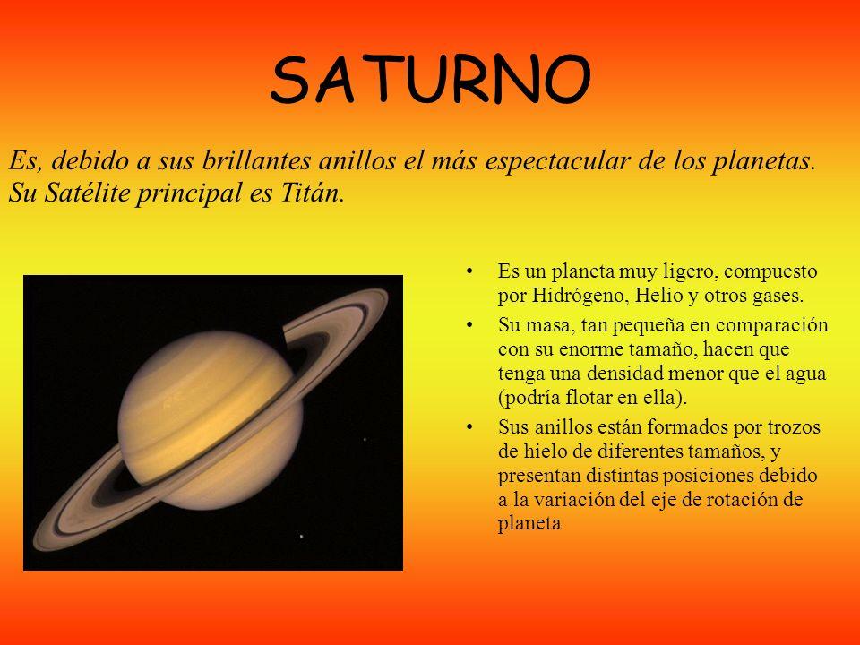 JÚPITER Júpiter tiene una masa 300 veces mayor que la Tierra. Es un gigante gaseoso que está compuesto en un 90% por Helio. Su periodo do rotación es