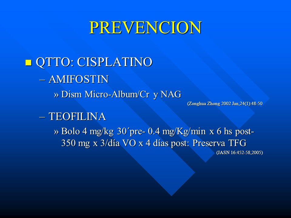 PREVENCION QTTO: CISPLATINO QTTO: CISPLATINO –AMIFOSTIN »Dism Micro-Album/Cr y NAG (Zonghua Zhong 2002 Jan,24(1):48-50 (Zonghua Zhong 2002 Jan,24(1):4