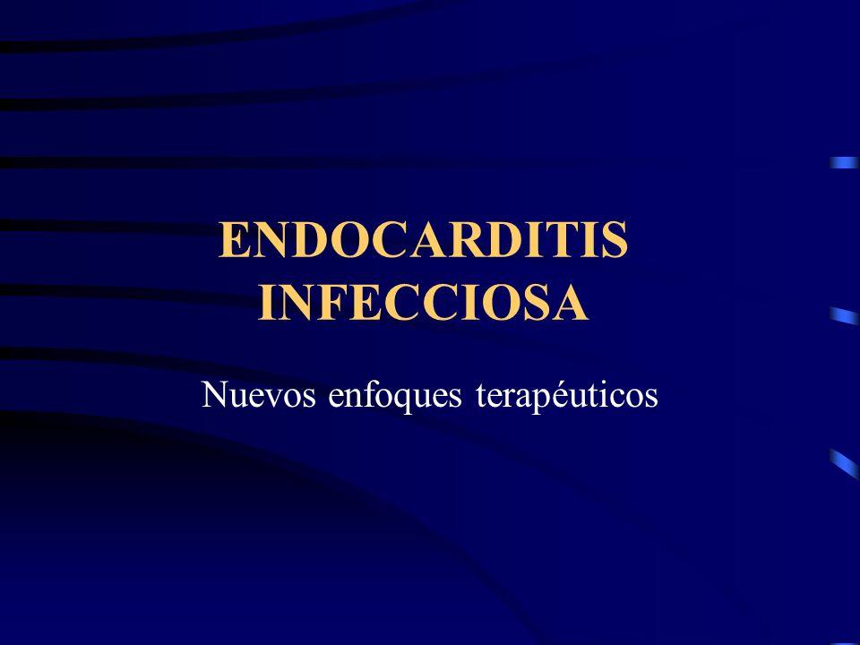Endocarditis aórtica Indicaciones de Cirugía: ICC, sepsis persistente, embolización sistémica recurrente incluida isquemia o infarto por embolismo coronario, extensión paravalvular incluida anormalidades conducción.