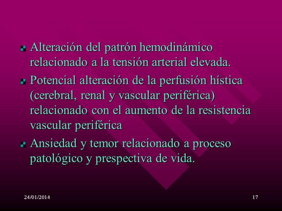 24/01/201416 Diagnósticos de enfermería